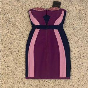 House of CB purple bandage dress